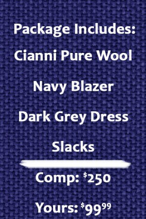 Cianni Navy Blazer Package