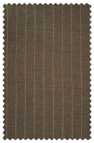 Hickey Freeman Traditional Fit Brown Stripe Suit 011-301024