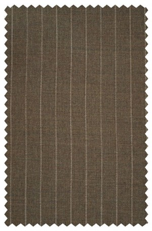 Hickey Freeman Traditional Fit Brown Stripe Suit #011-301024