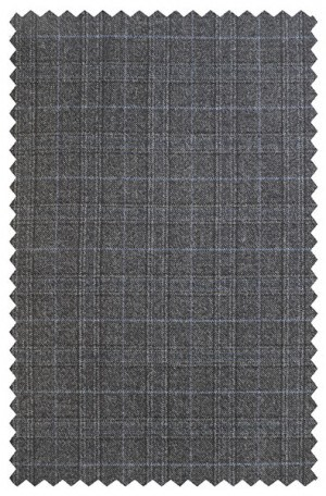 Hickey Freeman Gray Pattern Flannel Suit 015-303507