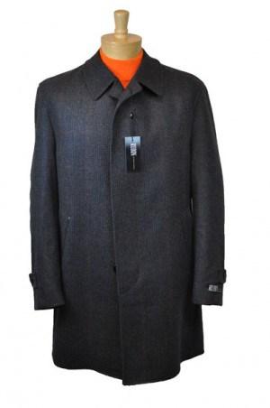 Rubin Gray Pattern 3/4 Length Topcoat #06174