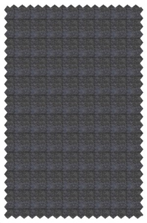 Hickey Freeman Gray & Blue Wool-Cashmere Suit #065-303321