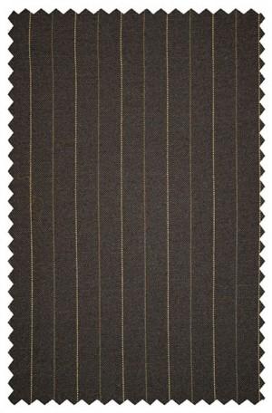 Hickey Freeman Brown Pinstripe Suit #095-312009
