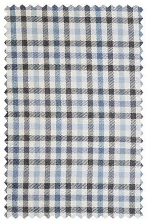 Ike Behar Blue & Brown Check Slim Fit Sportcoat #10-8443-242
