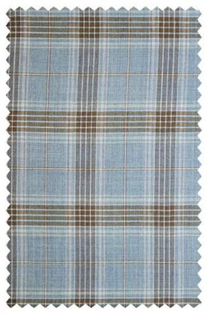 Ike Behar Blue Pattern Slim Fit Sportcoat #10-128803-441