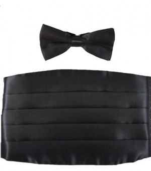 Poly Satin cummerbund set