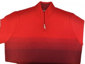 Gianni Marcelo 1/4 Zip Red Sweater 1060-RED