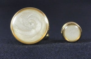 Cuff Links & Stud Set - Gold & Pearl #1101-G