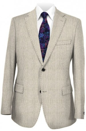 Daniel Hechter Light Gray Linen Slim Fit Sportcoat #1166014L-014