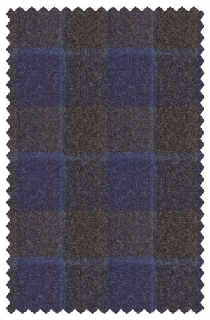 Blujacket Brown-Blue Plaid Tailored Fit Sportcoat #122265