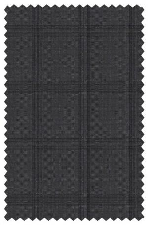 Varvatos Deep Charcoal Tonal Windowpane Slim Fit Suit 1234L