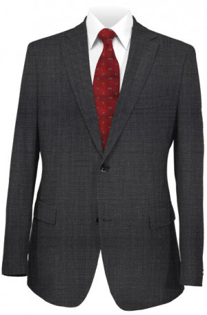Varvatos Charcoal Tick Weave Tailored Fit Suit #1234R