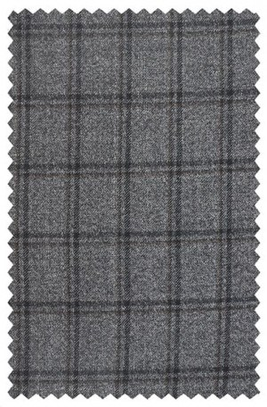 Jack Victor Medium Grey Windowpane Pattern Sportcoat #132318
