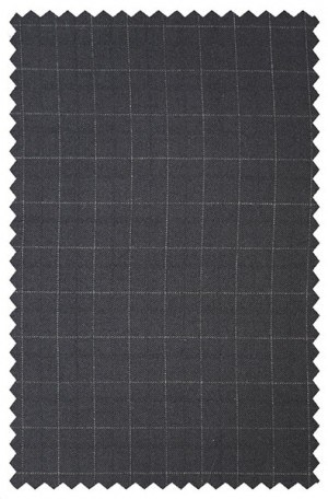 Betenly Black Pattern Tailored Fit Suit #142020