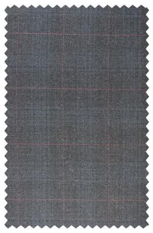 Hart Schaffner Marx Gray Windowpane Suit 148-630156-193