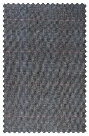 Hart Schaffner Marx Gray Windowpane Suit #148-630156-193
