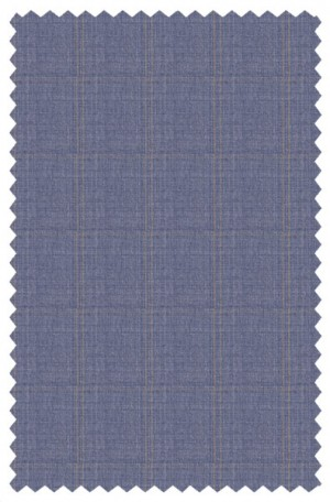 Blujacket Light Blue Windowpane Tailored Fit Suit 151137