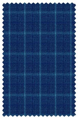 Blujacket Blue Windowpane Tailored Fit Sportcoat #152230