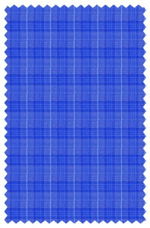 Blujacket Royal Blue Plaid Tailored Fit Sportcoat #152245