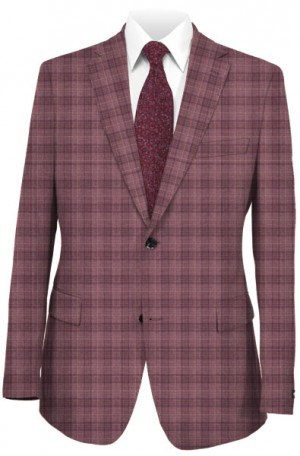 Blujacket Mauve Plaid Tailored Fit Sportcoat #152264