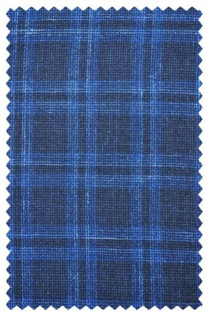 Jack Victor Blue Windowpane Sportcoat #161416