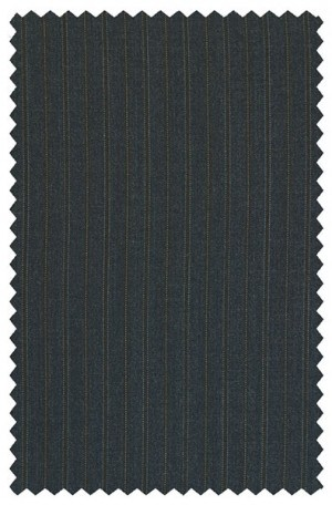 Hart Schaffner Marx Navy Stripe Suit with Pleated Slacks #165-423378