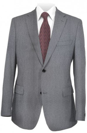 Calvin Klein 2 Button Grey Herringbone Suit Separates - Package 17SW0010