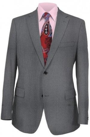 Calvin Klein Gray Herringbone Suit Package
