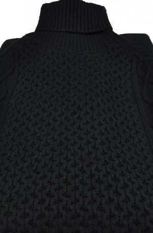 """Stockholm"" Black Turtleneck Sweater #1802-BLK"