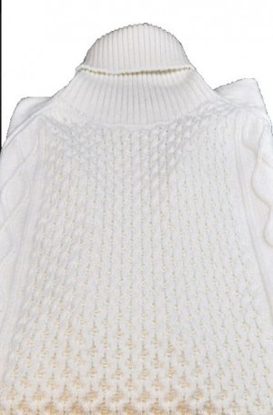 """Stockholm"" White Turtleneck Sweater #1802-WHT"