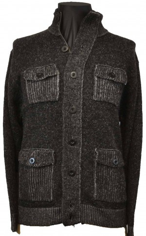 Tagio Black Accented Sweater Jacket #1821