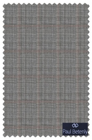 Paul Betenly Gray Windowpane Tailored Fit Suit #1T91002