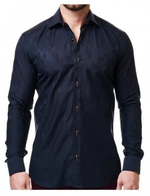 Maceoo Black Pattern Shirt