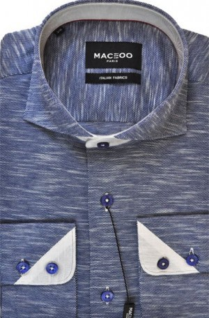 Maceoo Navy Sport Shirt #20170100083