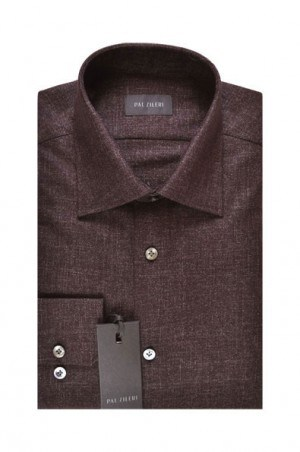Pal Zileri Burgundy Dot Tailored Fit Sportshirt #20218-70