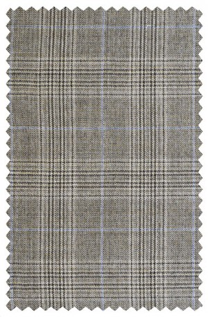 Rubin Taupe Plaid Classic Fit Suit #22574