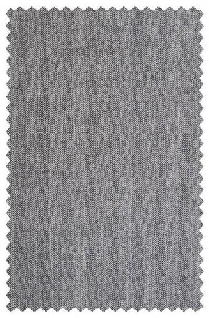 Rubin Gray Herringbone Gentleman's Cut Suit 22644