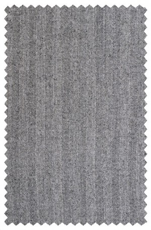 Rubin Gray Herringbone Gentleman's Cut Suit #22644