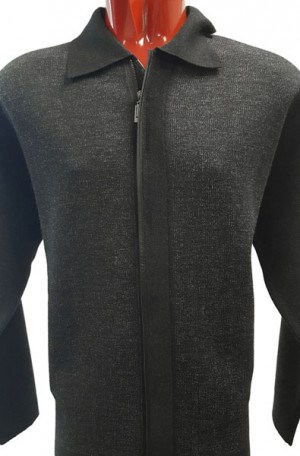 Gianni Marcelo Charcoal Sweater-Jacket #23068-CHAR