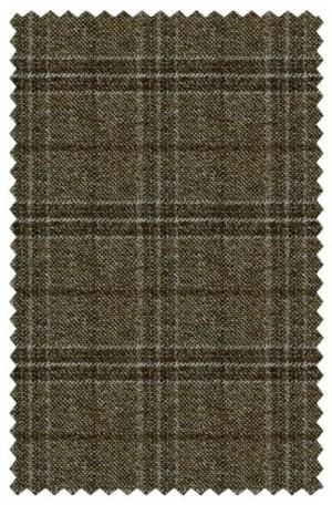 Abboud Brown Windowpane Gentleman's Fit Sportcoat #233471