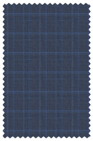Canaletto Blue Pattern Tailored Fit Suit #2472C-138-2