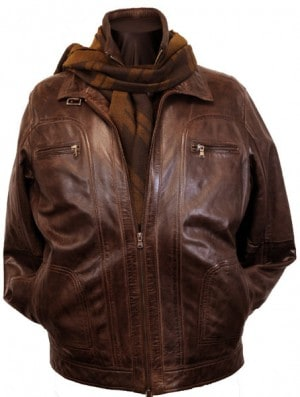 Regency La Marque Brown Leather Bomber #264407-BRN