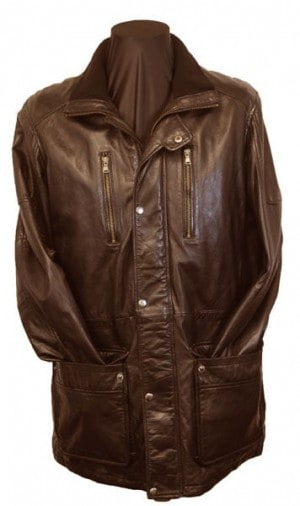 Regency La Marque Brown Leather Coat #264413-BRN