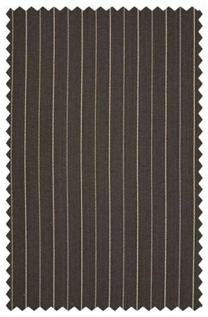 Black Pinstripe Suit with Pleated Slacks #28273