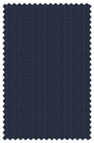 Canaletto Navy Check Tailored Fit 3-Piece Vested Suit 286554-2