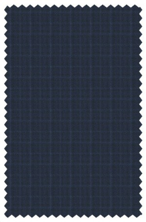 Canaletto Navy Check Tailored Fit 3-Piece Vested Suit #286554-2