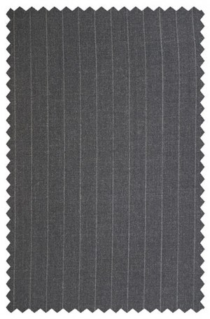 Petrocelli Gray Pinstripe 'Executive-Portly' Cut Suit 29522