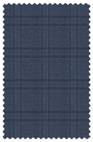 Ralph Lauren Blue Windowpane Tailored Fit Sportcoat #2DX1617