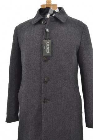 Ralph Lauren Charcoal Insulated 3/4-Length Coat  #2EB0023