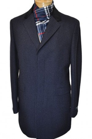 "Ralph Lauren Navy ""Dot"" 3/4 Length Topcoat #2EB0026"